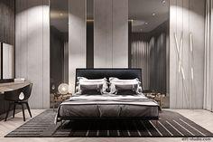 Stoleshnikov 7 in Moscow. │ Part on Behance Modern Luxury Bedroom, Modern Master Bedroom, Master Room, Modern Room, Luxurious Bedrooms, Luxury Interior, Luxury Bedrooms, Interior Design, Bed Headboard Design