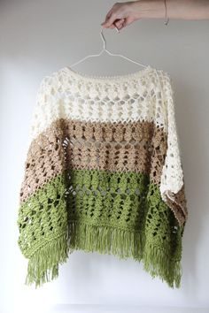 Poncho Crocheted