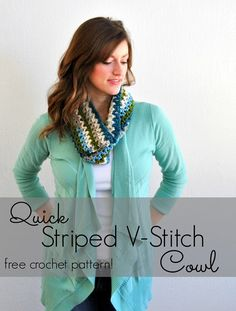 Free pattern (and photo step-by-step) to make this cute crochet cowl!