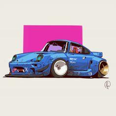 Retrowave car by Fernando Correa Cool Car Drawings, Street Racing Cars, Car Vector, Car Illustration, Futuristic Cars, Car Sketch, Car Wallpapers, Automotive Design, Art Cars