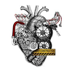 A Menagerie of Mechanical Animals by Diego Mazzeo Anatomy Art, Anatomy Drawing, Anatomical Heart, Heart Images, Human Heart, Sacred Heart, Heart Art, Body Art Tattoos, Cool Art