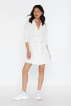 Nasty Gal Suits You Double Breasted Blazer Dress Pop Fashion, Fashion Outfits, Fairytale Dress, Double Breasted Blazer, Blazer Dress, Sexy Shorts, Nasty Gal, Short Dresses, Lapels