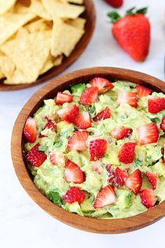 #Recipe: Strawberry Goat Cheese Guacamole