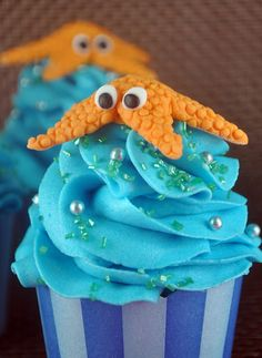 Bake Happy: How to Make Fondant Starfish Cupcake Toppers
