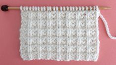 Waffle Knit Stitch Pattern. Get Free Written Patterns, Charts, and Video Tutorials in the Absolute Beginner Knitting Series by Studio Knit.