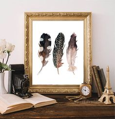 ❣ Please check our announcements tab for coupon codes! ❣  Feather Set Printable  ❥ No physical item will be shipped to you. You are purchasing Nursery Prints, Wall Art Prints, Framed Prints, Watercolor Feather, Watercolor Print, Teen Wall Decor, Feather Wall Art, Types Of Printer, Coupon Codes