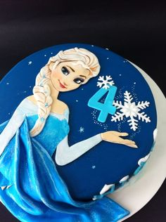 Tarta Elsa Frozen by Sanlicious