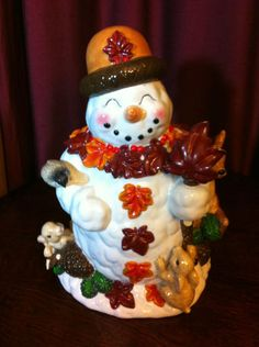Snowman Cookie Jar by Christopher Radko