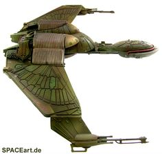 Star Trek: Klingon Bird of Prey - Generations, Modell-Bausatz, http://spaceart.de/produkte/st082.php