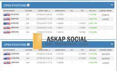 Sepertinya trend untuk menahan posisi sell pada pair AUDUSD, GBPUSD dan EURUSD masih berlanjut. Apakah Anda melakukan hal yang sama? // askap social trade trading bisnis trading online bisnis online investasi online