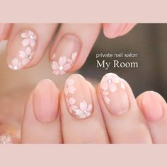 Pin on Gel French Manicure Short Nails French Manicure Short Nails, French Manicure Designs, Nail Art Designs, Cute Nail Art, Cute Nails, Pink Nails, Gel Nails, Cherry Blossom Nails, Kawaii Nails
