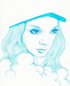 """""""Blue Girl"""" by Yukari Terakado"""