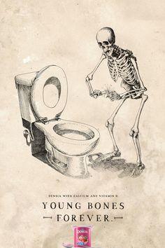 Danone Densia: Bomb | Danone Densia with calcium and vitamin D. Young bones forever.