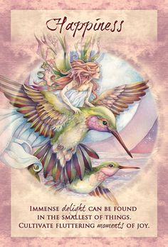 """""""Happiness"""" Magical Times Empowerment Cards par Jody Bergsma from U. Games Inc Angel Guidance, Oracle Tarot, Doreen Virtue, Angel Cards, Fairy Art, Chicano, Wiccan, Faeries, Fantasy Art"""