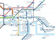 London Underground and DLR network