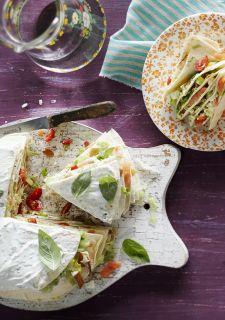 Tortillataart met gerookte vis (met zelfgebakken spelt tortilla wraps http://10xgezonder.nl/tortilla-wraps/ )