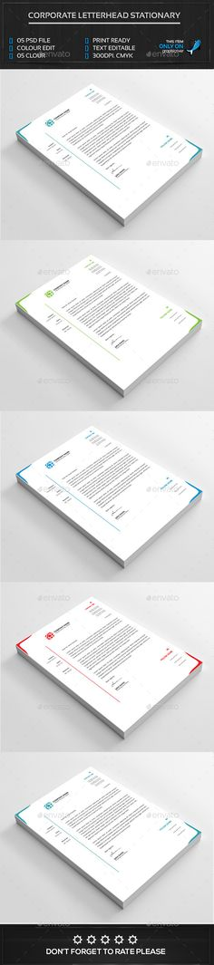 Corporate Letter Head Letterhead design, Stationery printing and - free business letterhead templates download