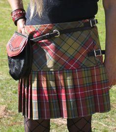 "HM Scottish Mini Ladies Skirt Heritage of Scotland Tartan//Women Mini Skirt 16/"""