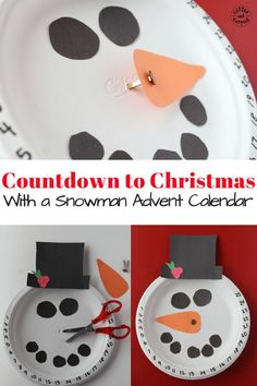 Countdown to Christmas with this Christmas craft snowman advent calendar. Ten days till Christmas