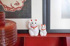 Oravanpesä   maneki neko Maneki Neko, Snowman, Christmas Ornaments, Holiday Decor, Disney, Instagram, Home Decor, Art, Art Background