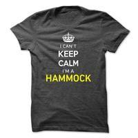 I Cant Keep Calm Im A HAMMOCK