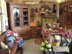 Primitive And Americana Bedroom...  I LOVE IT