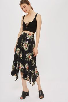 Annarocks Floral Wrap Skirt - New In Fashion - New In - Topshop Europe