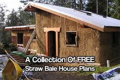 A Collection Of FREE Straw Bale House Plans - Straw bale houses are a cheaper option to normal constructed houses, this is a great way to save lots of money and have a great insulated house once its built.