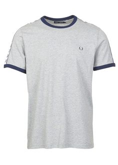 Tee-shirt col rond regular-fit en coton Gris by FRED PERRY