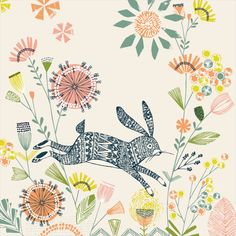 Hiding Rabbit by Bethan Janine from Oopsy Daisy, Fine Art For Kids. Shop our Easter wall art now!