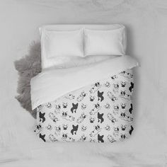 Now available Bedding Black & G.... All our products are handmade & handcrafted with the highest quality in mind. http://thefrenchiestore.com/products/bedding-black-grey-pen-handrawn-frenchies-on-white?utm_campaign=social_autopilot&utm_source=pin&utm_medium=pin