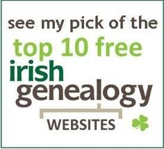 The top 10 free Irish genealogy websites and databases - my independent selection of the very best free online research resources for Irish family history. Free Genealogy Sites, Genealogy Research, Family Genealogy, Family Roots, All Family, Family Trees, Family Tree Research, My Family History, American Women