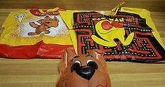 Vintage Ben Cooper Halloween Costumes: Pac-Man and Scooby-Doo. Small 4-6, TT 3-5