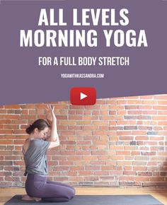 Rise & shine with a full body 10 minute yoga stretch to wake you up! These 7 poses are great for all yogis, and require no props. Full Body Stretch, Body Stretches, Morning Yoga, Yoga For Beginners, Yoga Poses, Om, Life, Yoga For Complete Beginners, Yoga Beginners