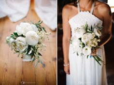 Ana's bouquet designed by Design Events. Just love the peonies! More here: http://www.fotografamos.com/2012/11/21/ana-joao-diy-wedding/