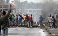 Protesters in Burundi barricades roads to register their disapproval for president Pierre Nkurunziza's third term bid.
