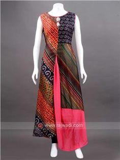 Silk High Low Printed Kurti