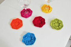 Pode ser confeccionado nas cores que preferir e no diâmetro personalizado da base de suas taças.  Kit com 6 unidades R$ 45,00
