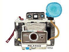 vieil appareil photo illustration