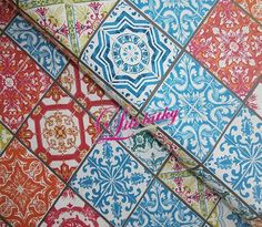 Bavlněná látka  Lisbonne carreaux Quilts, Blanket, Rugs, Home Decor, Scrappy Quilts, Lisbon, Tile, Farmhouse Rugs, Decoration Home