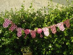 Pink and Brown Baby Shower Banner