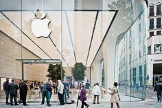 jony ive unveils his first apple store interiors in brussels