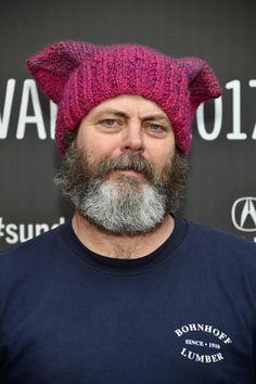PsBattle: Nick Offerman wearing a pussyhat