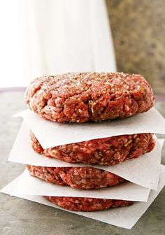 Shaping Perfect Hamburger Patties. Have you ever walked by the butcher case at your local grocery store and noticed how perfectly uniform the hamburgers they sell are? Here's the secret!