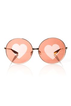 602d76ab7b Chloe Sevigny For Opening Ceremony barton perreira candy gold brown heart  lens