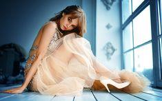 Download wallpapers Anastasiya Scheglova, photomodels, beauty, blonde, beautiful girls