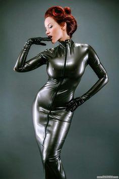 Bianca beauchamp black rubber dress