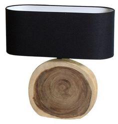 lámpara base de madera.  www.amoble.cl