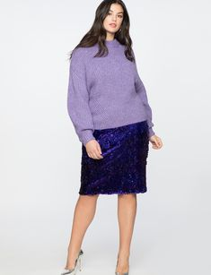 View our Sequin Column Skirt and shop our selection of designer women's plus size Skirts, clothing and fashionable accessories. Lace Skirt, Sequin Skirt, Plus Size Skirts, Fashion Art, Fashion Tips, I Dress, Plus Size Fashion, Style Me, Fashion Accessories
