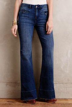 Anthropologie Pilcro Superscript High Rise Flare Jeans Denim Boho ...